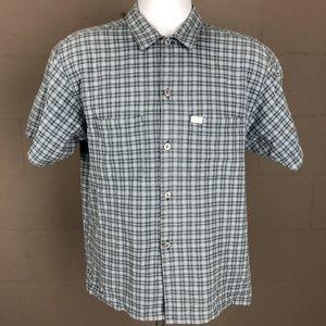 Quiksilver Men's Button Up Shirt Size M Blue RG21